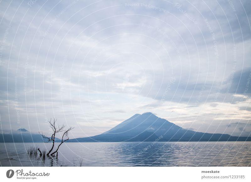 Lake Atitlan - Guatemala Environment Nature Landscape Elements Water Sky Clouds Horizon Summer Tree Volcano Coast Lakeside Blue Vacation & Travel Atitlan Lake