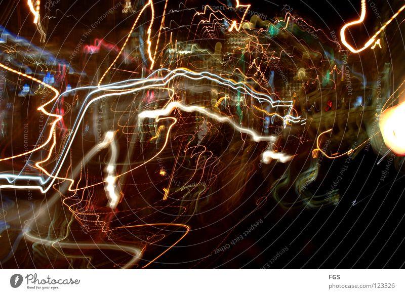 Colour Joy Dark Movement Funny Lamp Bright Line Dream Fear Flying Transport Circle Round Tracks Disco