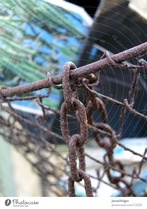 Old Green Gloomy Broken Things Rust Chain Hang Basket Chain link