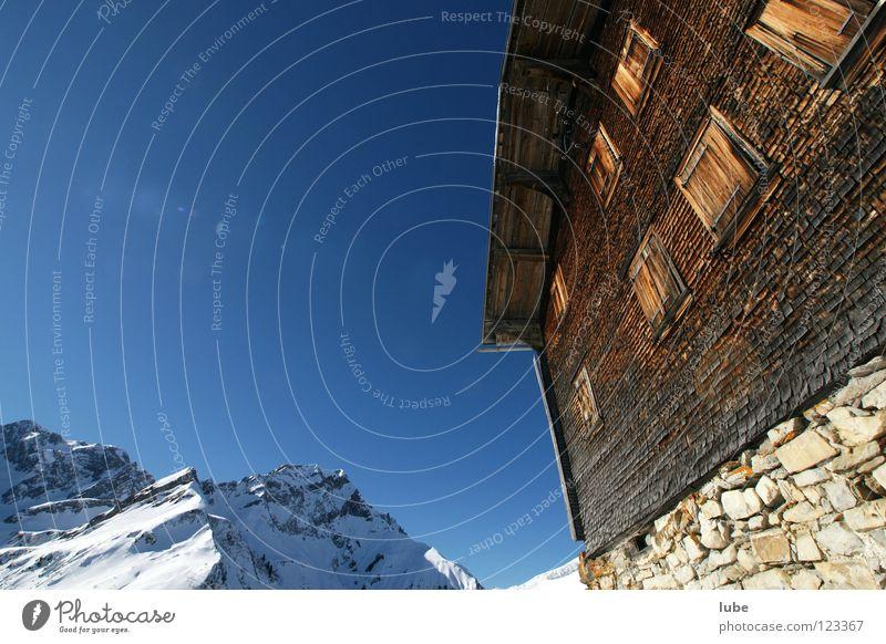 Winter House (Residential Structure) Mountain Air Derelict Hut Alpine pasture Roofing tile Alpine hut