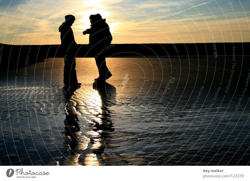 Human being Sky Water Sun Ocean Clouds Beach Coast Sand Moody Waves Earth Island Tracks North Sea Beach dune