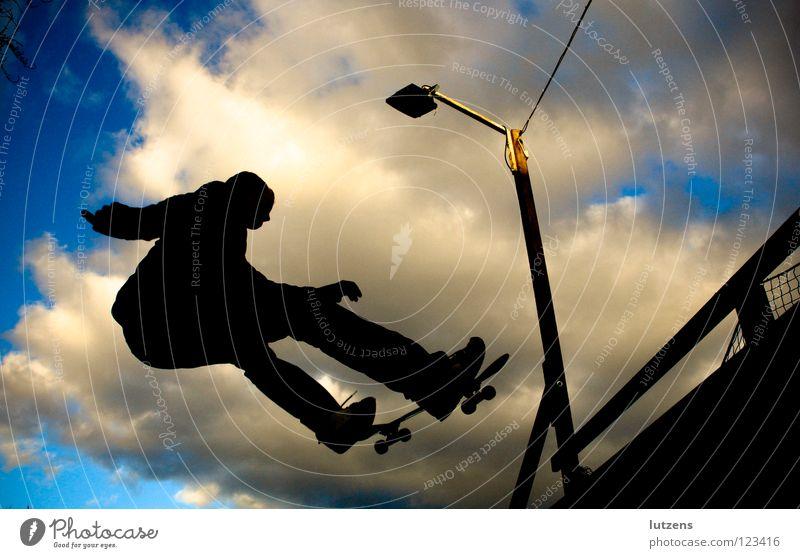 Sports Playing Flying Skateboarding Snapshot Funsport Ramp Air