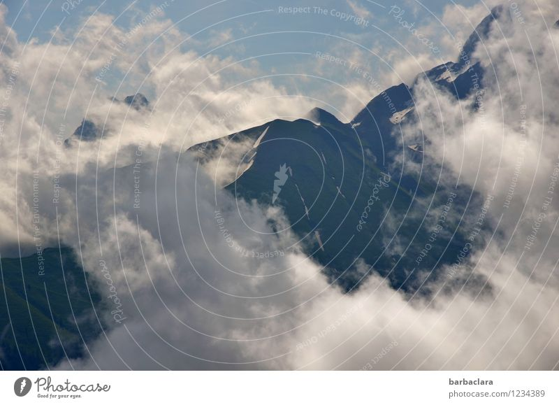 Clean as a whistle of clouds Vacation & Travel Hiking Nature Landscape Elements Earth Air Sky Clouds Climate Alps Mountain Allgäu Alps Peak Tall Blue White
