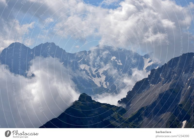 Great climate | Mountain air Vacation & Travel Environment Nature Landscape Elements Earth Air Sky Clouds Climate Weather Alps Allgäu Alps Snowcapped peak Fresh