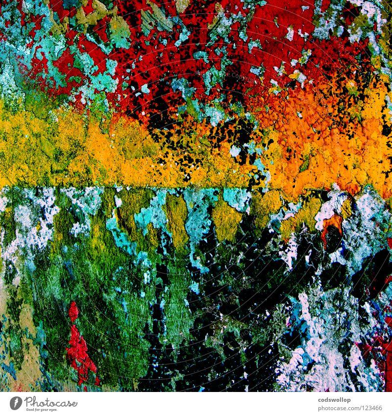 ab_4f Yellow Cyan Macro (Extreme close-up) Close-up Graffiti Mural painting red white light blue black