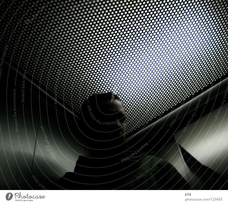 Man Cold Movement Metal Corner Point Elevator Progress Triangle Point of light