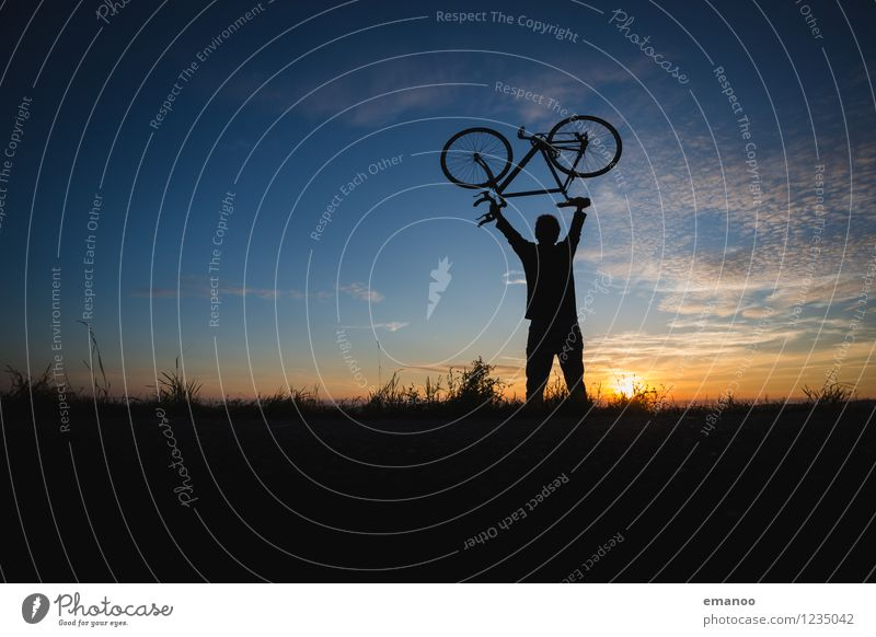 bike hero Lifestyle Style Joy Athletic Fitness Contentment Relaxation Leisure and hobbies Vacation & Travel Tourism Far-off places Freedom Cycling tour Summer
