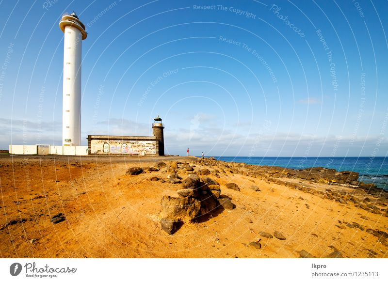 atlantic ocean lanzarote Plate Vacation & Travel Trip Ocean Lamp Sky Clouds Rock Lighthouse Architecture Facade Monument Stone Concrete Metal Steel Rust Old