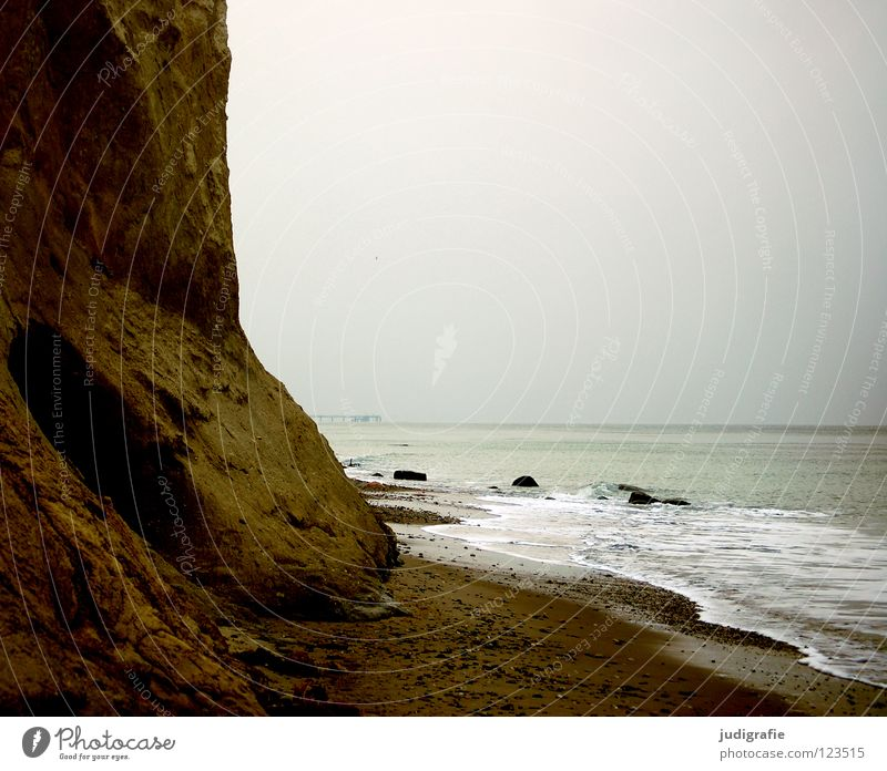 Nature Water Sky Ocean Winter Beach Vacation & Travel Colour Cold Relaxation Gray Stone Sand Coast Environment Horizon