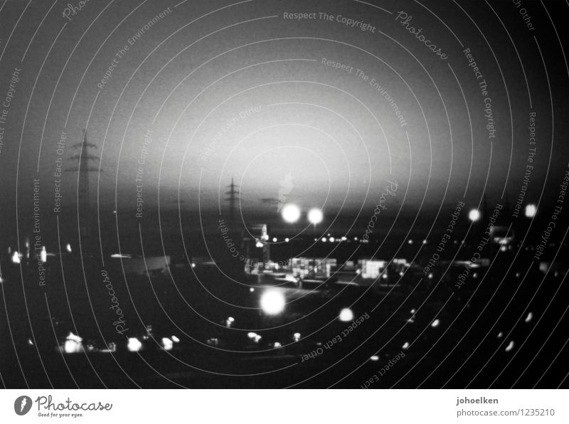 Old White Dark Black Glittering Fear Gloomy Large Threat Logistics Cable River Harbour Cloudless sky Creepy Analog