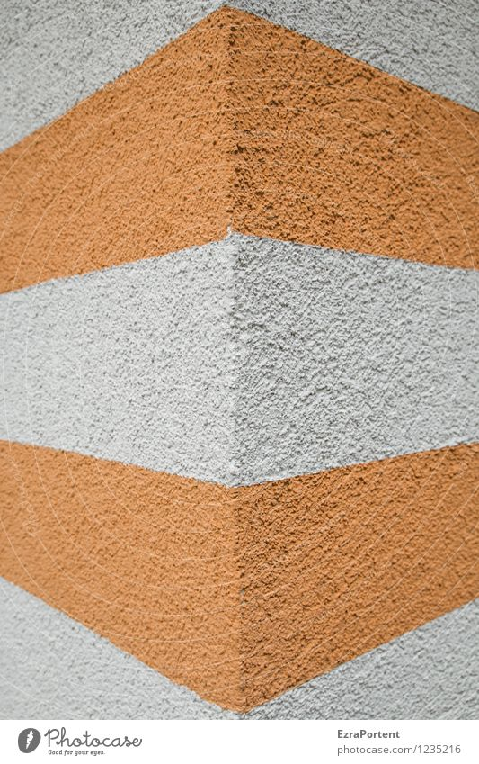 City Colour White House (Residential Structure) Wall (building) Architecture Building Wall (barrier) Gray Line Facade Orange Design Esthetic Concrete Corner