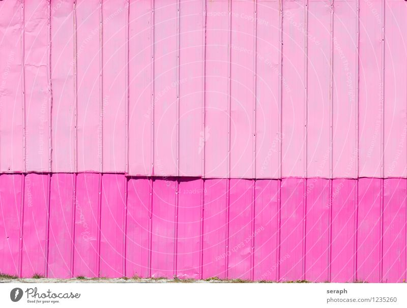 Pink Wall City Wall (building) Architecture Style Building Wall (barrier) Background picture Line Metal Facade Fresh Modern Fence Graphic Material