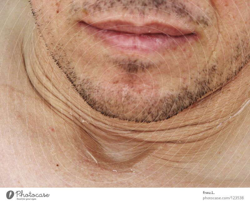 Man Water Swimming & Bathing Mouth Wrinkles 50 plus Facial hair Wash Neck Puddle Chin Stubble Stopper