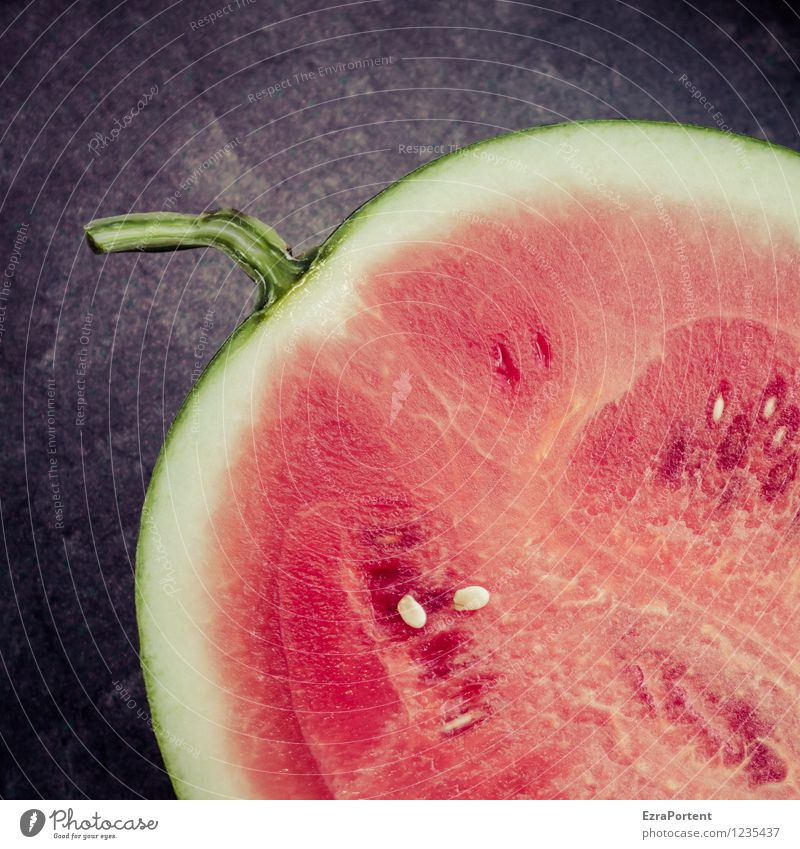 foodography Food Fruit Nutrition Vegetarian diet Red Refreshment Half Melon Kernels & Pits & Stones Stalk Fruit flesh Healthy Colour photo Subdued colour
