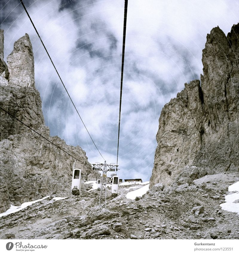 Sky Mountain Hiking Tall Level Italy Alps Upward Elevator Dolomites Federal State of Tyrol Sparse Alpine Gravel South Tyrol Driver's cab