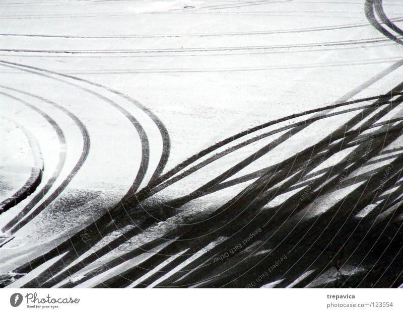 White Winter Street Cold Snow Gray Movement Lanes & trails Line Weather Background picture Floor covering Driving Tracks Seasons Motoring