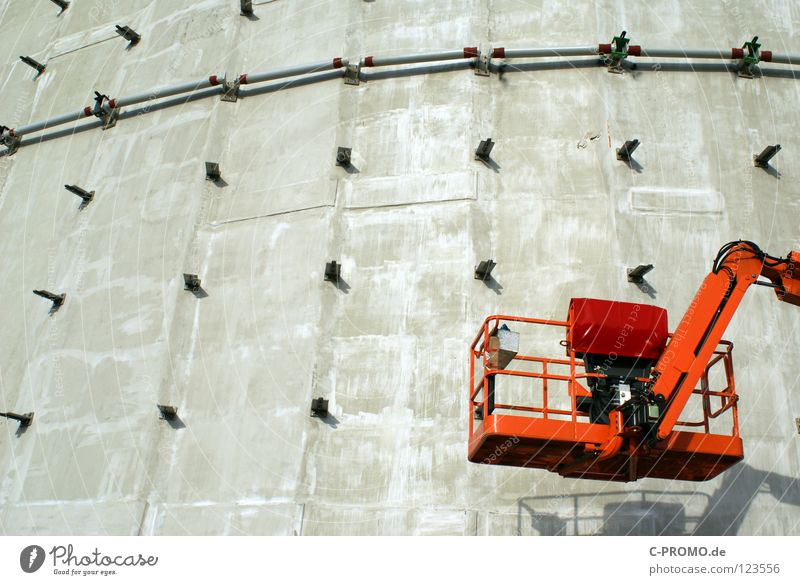 building pause Construction site Craft (trade) Structural engineering Construction worker Break Hydraulic lift Steel Concrete Facade Minimum wage Labor union