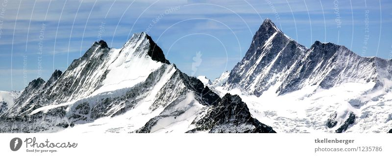 mountain top Environment Nature Landscape Hiking Esthetic Authentic Gigantic Large Infinity Calm Tourism Mountain Slope Alps Climate change Panorama (Format)