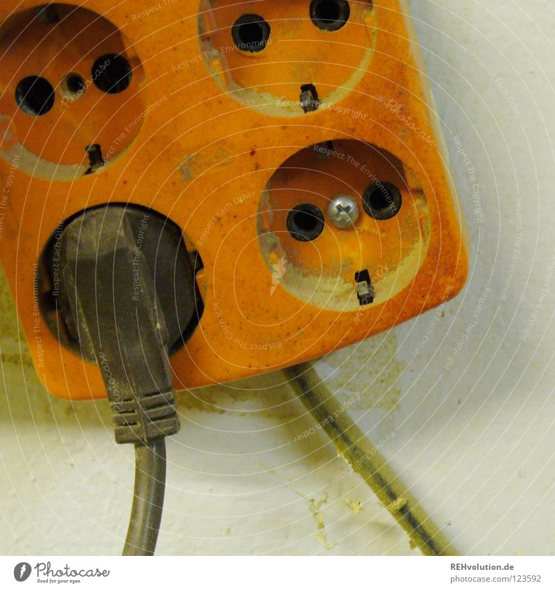 Old Orange Brown Power Energy industry Force Electricity Technology 4 Hollow Craftsperson Former Socket Juice Connector Electrical equipment