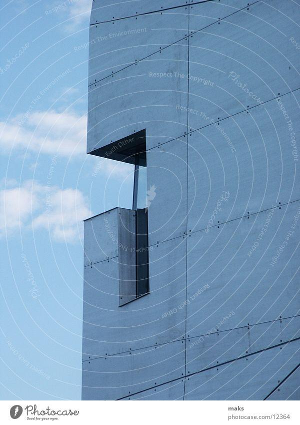Sky Blue Metal Architecture Silver Aluminium