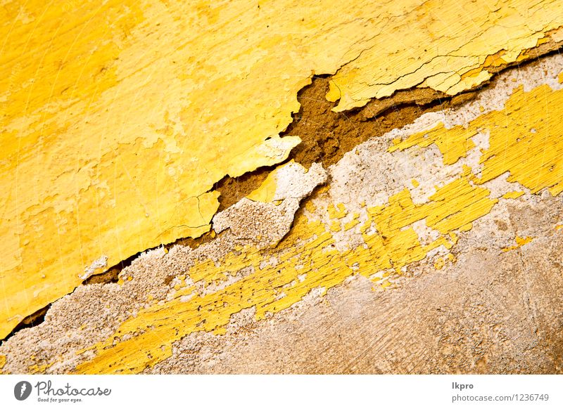 yellow in texture wall Old Yellow Architecture Building Stone Design Decoration Copy Space Retro Illustration Tile Africa Material Crack & Rip & Tear Story