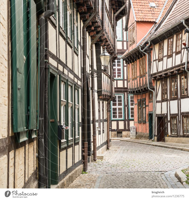 Quedlinburg I Vacation & Travel City trip Architecture quedlinburg Germany Europe Town Old town Deserted House (Residential Structure) Half-timbered house