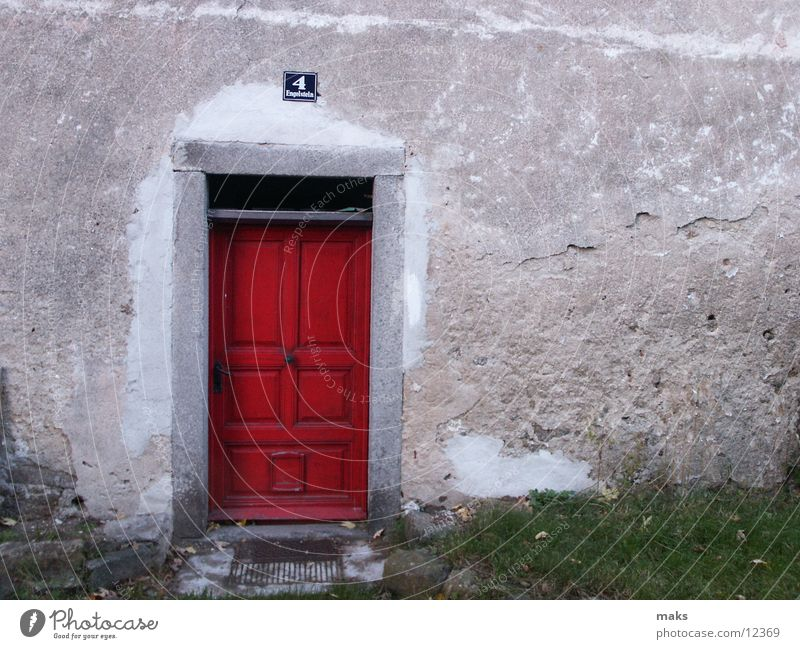 Old Red Wood Architecture Door Gate Entrance Front door