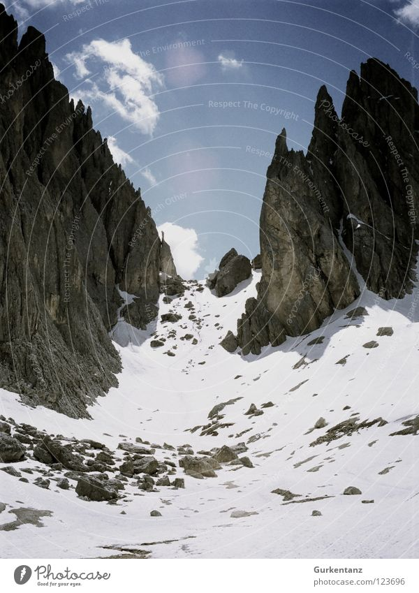 Sky Mountain Wall (building) Snow Ice Tall Italy Level Alps Upward Mountaineering South Tyrol Sparse Federal State of Tyrol Alpine Gravel