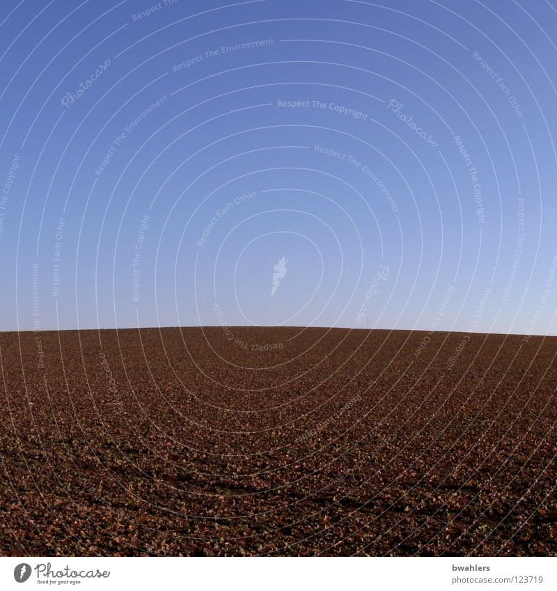 Sky Blue Calm Sand Line Brown Field Earth Hill Agriculture Americas Row Sowing