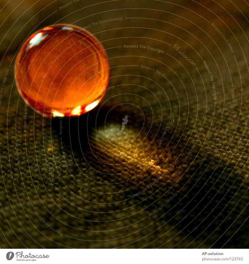 Warmth Lighting Orange Glittering Small Glass Round Physics Things Sphere Cloth Concentrate Pearl Illuminate Brilliant