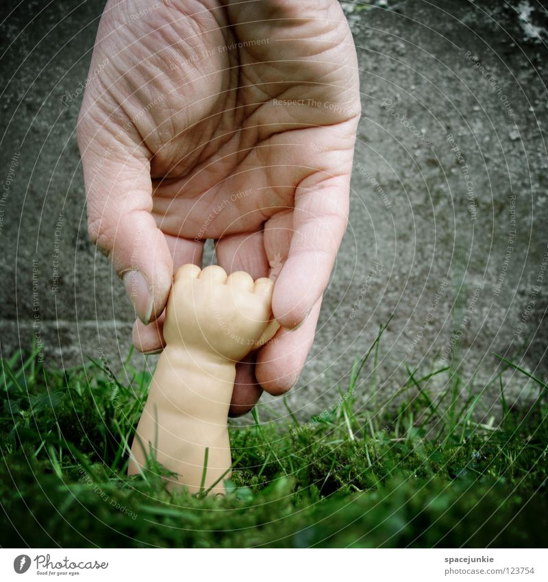 take my hand Green Growth Maturing time Hand Fist Toys Whimsical Humor Joy Lawn Harvest Arm doll-poor Doll Statue