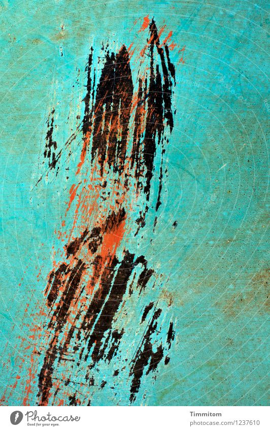 Red Black Emotions Art Line Metal Esthetic Simple Force Turquoise Willpower Scratch mark Surface structure