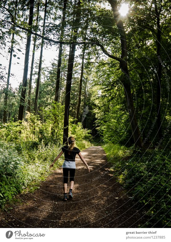 Human being Child Nature Green Summer Landscape Animal Girl Forest Black Environment Yellow Spring Feminine Lanes & trails Brown