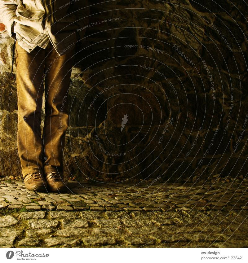 Human being Man Hand White Black Yellow Dark Stone Legs Lamp Bright Feet Brown Lighting Footwear Dirty