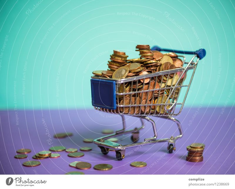Euro, coins, small change Food Nutrition Shopping Luxury Money Save Trade Financial Industry Stock market Financial institution Business Violet Turquoise