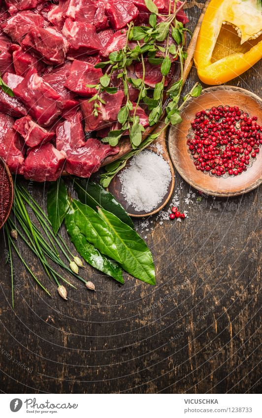 Healthy Eating Life Style Background picture Food photograph Design Nutrition Table Herbs and spices Kitchen Organic produce Plate Bowl Meat