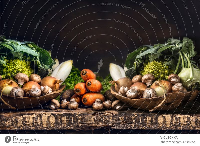 Organic vegetable selection - rich garden harvest Food Vegetable Lettuce Salad Nutrition Organic produce Vegetarian diet Diet Bowl Style Design Healthy Eating