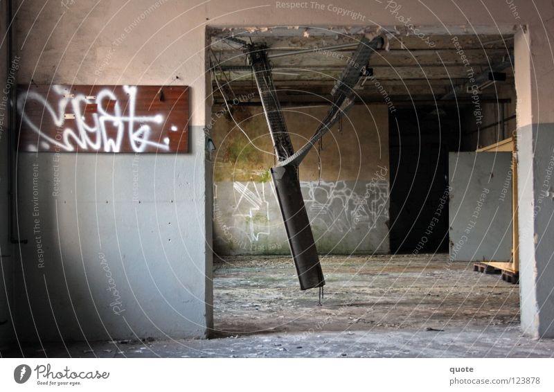Old Loneliness Lamp Graffiti Metal Industrial Photography Factory Broken Floor covering Railroad tracks Derelict Geometry Destruction Scrap metal Bavaria
