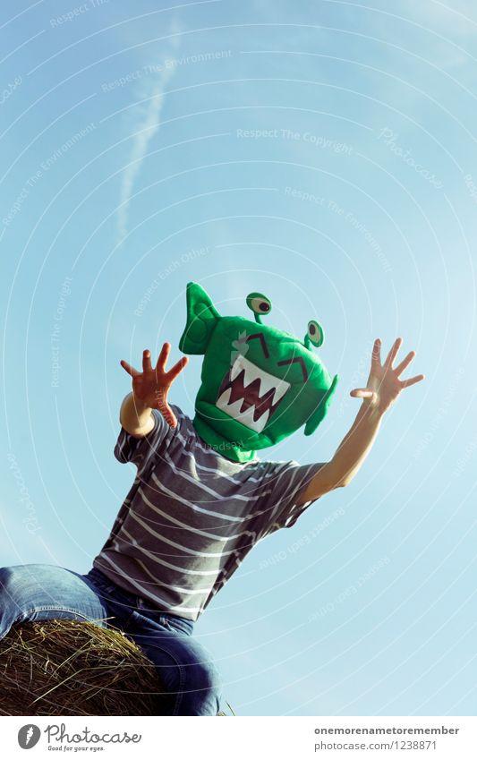 ROOOAAAAAR! Art Work of art Esthetic Aggressive Monster Extraterrestrial being Green Mask Ogre Monstrous Joy Comical Funster The fun-loving society Hand Grasp