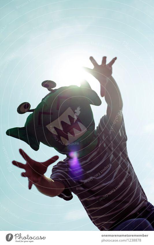 Hand Joy Art Esthetic Dangerous Threat Mask Catch Work of art Costume Grasp Carnival costume Monster Comical Funster Extraterrestrial being
