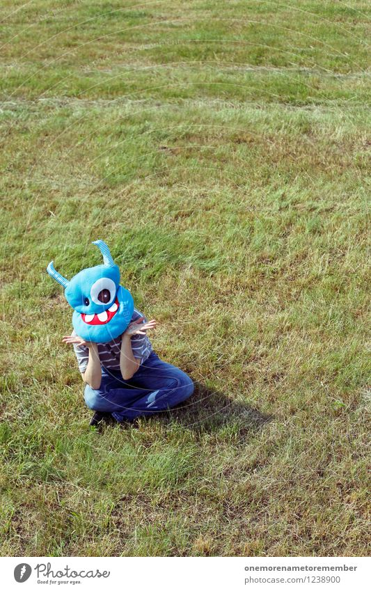 Blue Green Joy Art Sit Esthetic Wait Costume Work of art Crouch Monster Comical Marvel Funster Support Disguised