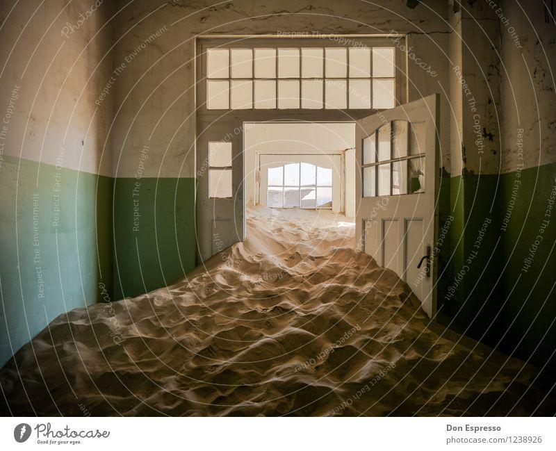 Loneliness Dark Sand Fear Door Fantastic Dangerous Threat Transience Fear of death Claustrophobia Derelict Desert Decline Creepy Stress