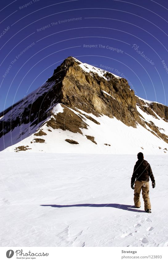 Human being Woman Winter Far-off places Landscape Cold Snow Mountain Going Rock Walking Hiking Target To go for a walk Climbing End