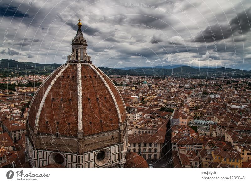 Cloudy Vacation & Travel Tourism Trip Sightseeing City trip Sky Storm clouds Bad weather Thunder and lightning Florence Tuscany Italy Town Downtown Old town