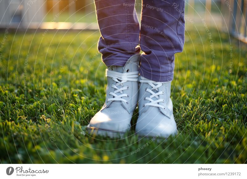 broad-gauged. Summer Feminine Girl 8 - 13 years Child Infancy Sun Grass Footwear Boots Gray Green Violet Colour photo