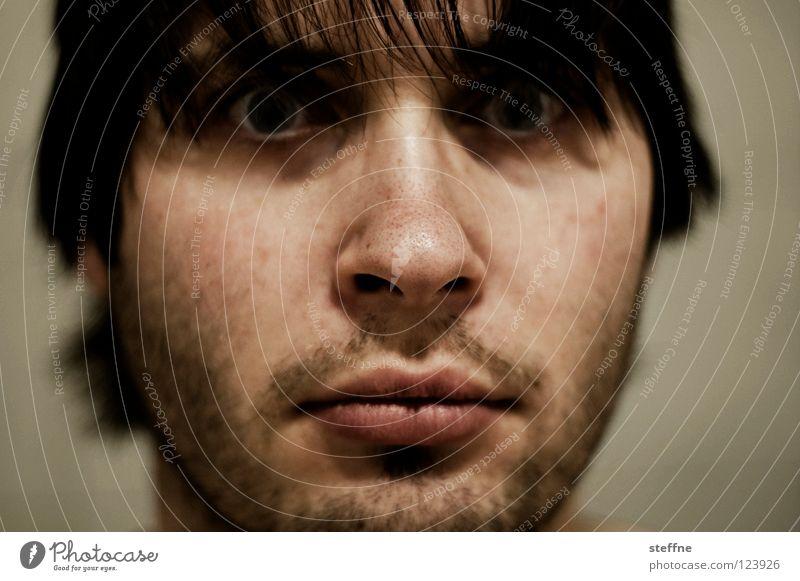 Facial hair on nose