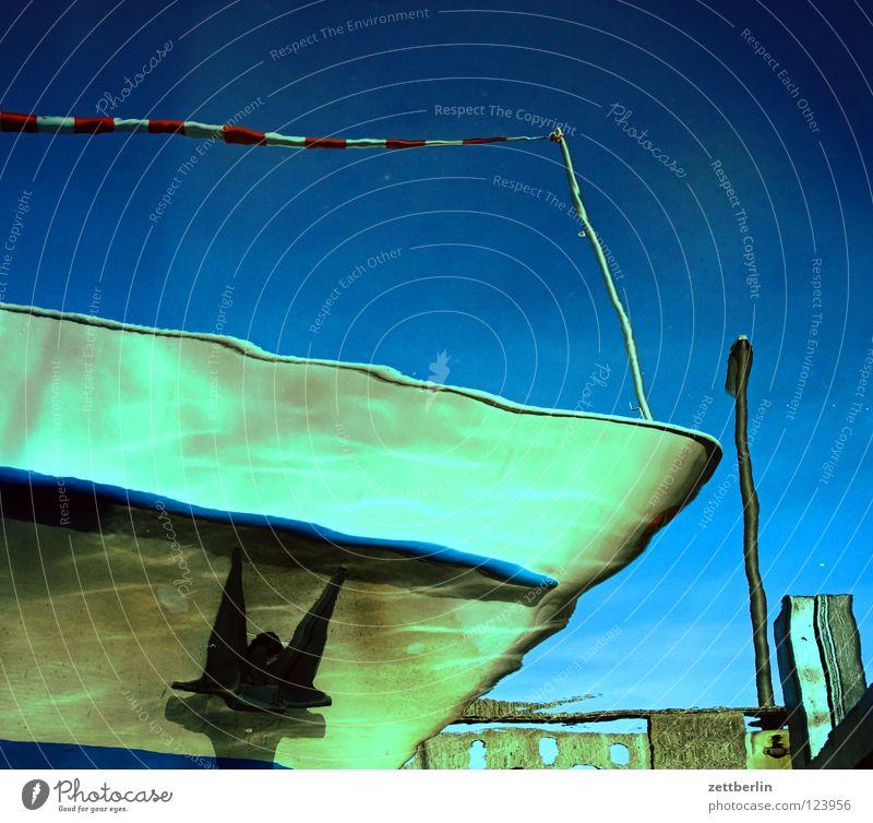 ship Watercraft Bow Anchor Waves Dive Reflection Navy Vacation & Travel Jetty Navigation on board Ship's side titanic marina Electricity pylon mast break Kiel