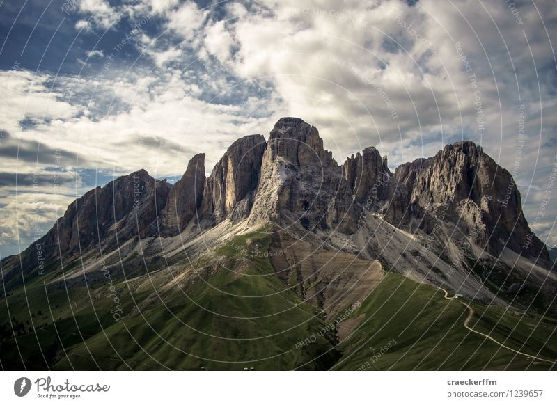 Dolomites I Relaxation Meditation Cure Vacation & Travel Tourism Mountain Hiking Climbing Mountaineering Nature Landscape Clouds Summer Beautiful weather Rock
