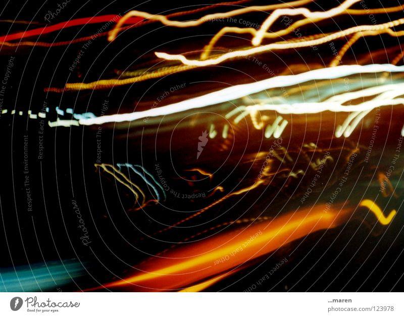 Dark Street Lamp Car Glittering Wild animal Snapshot Club Muddled Sporting event Sewing thread Take a photo Loud Motor vehicle Lomography Glint