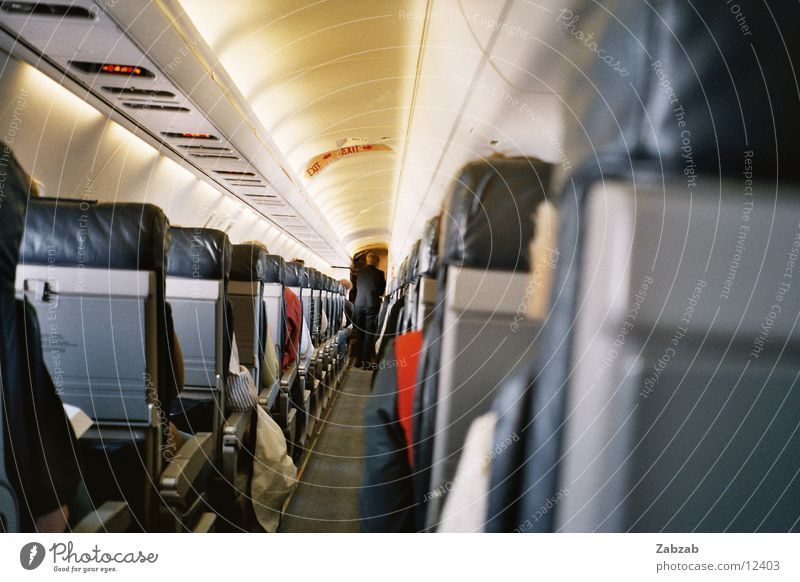 Sky Air Airplane Perspective Aviation Airport Seating